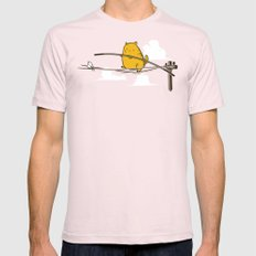 No Free Lunch Mens Fitted Tee Light Pink SMALL
