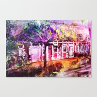THE WATERCOLOR MAGIC HOUSE     FRENCH OLD HOUSE Canvas Print