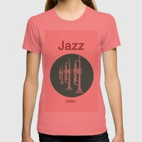 Jazz Relax Womens Fitted Tee Pomegranate SMALL