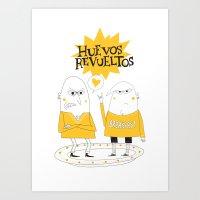 Huevos Revueltos Art Print