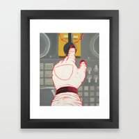 Space Hand Framed Art Print