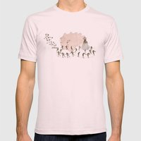 hey diddle diddle 1 Mens Fitted Tee Light Pink SMALL