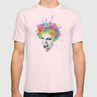 Colorful Scream Mens Fitted Tee Light Pink SMALL