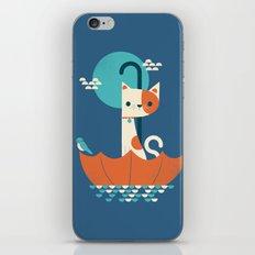 Umbrella Cat iPhone & iPod Skin