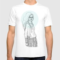 Teal Nimbus Mens Fitted Tee White SMALL