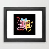 Petit monstre cube  Framed Art Print