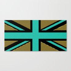 Glittery Union Jack Canvas Print