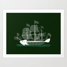 Cutter Fish Art Print