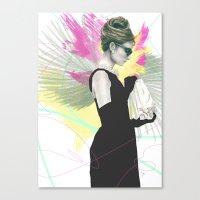 Breakfast at Tiffany's Fashion Illustration Canvas Print