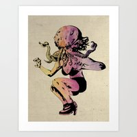 Wife Of Cthulhu A.F. Mon… Art Print