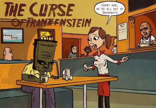Curse of Frankenstein Art Print