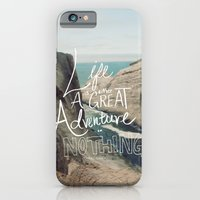 adventure iPhone & iPod Cases featuring Great Adventure by Leah Flores
