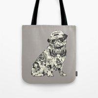 Pug Tattoo Tote Bag