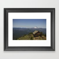 Summit of Black Butte at 6500 ft.  Sisters, OR Framed Art Print