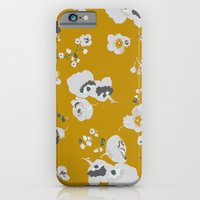 iPhone & iPod Case featuring mustard poppies by threequalsquare