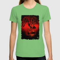 SWITCHBLADE VULTURE Womens Fitted Tee Grass SMALL