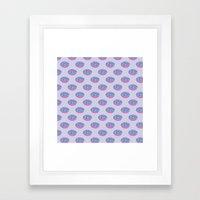 Pastel Doughnut Heaven Pattern  Framed Art Print