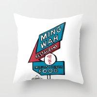 Ming Wah Throw Pillow