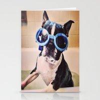 Bathing Boston Stationery Cards