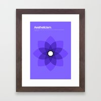 Aestheticism Framed Art Print