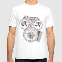 Celtic Gasmask Mens Fitted Tee White SMALL