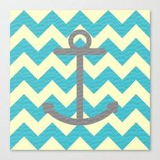 Chevron Anchor Canvas Print