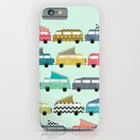 iPhone & iPod Case featuring geo campers mint by Sharon Turner