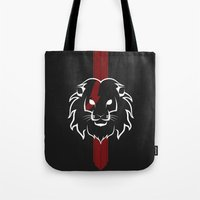 Monarch (White & Red) Tote Bag
