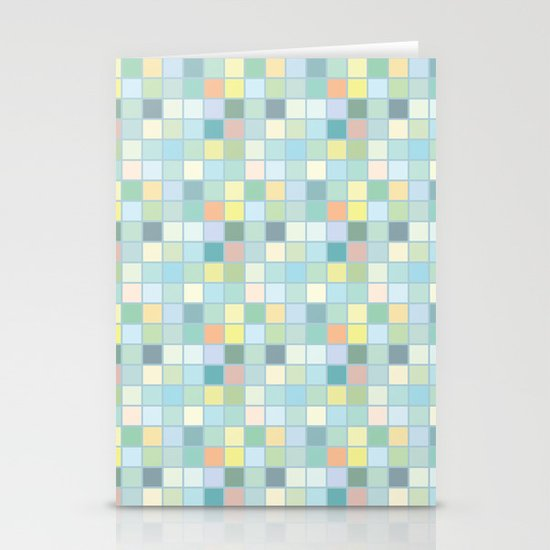 Pastel Squares Stationery Card