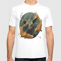 Fate Fish  Mens Fitted Tee White SMALL