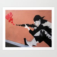 I LOVE YOUR GUN Art Print