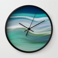 OCEAN ABSTRACT Wall Clock