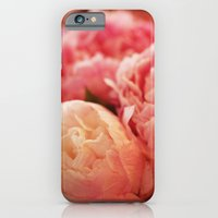 iPhone & iPod Case featuring Pink Peonies by sparkofinspiration