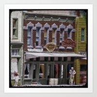 Candy Shoppe: Small Town Downtown 3 Art Print