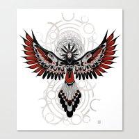 Divine Crow Woman Canvas Print