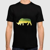 Orion Rhino Mens Fitted Tee Black SMALL