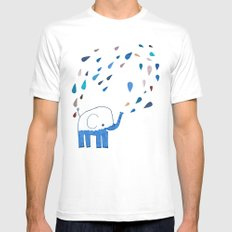 how an elephant showers Mens Fitted Tee White SMALL