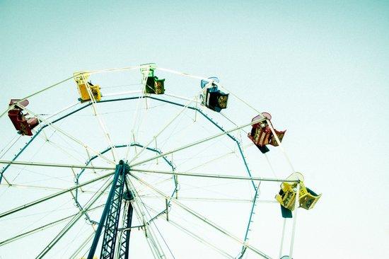 Green Bay Ferris Wheel Art Print