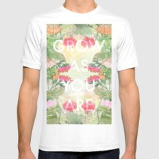 Grow As You Are White SMALL Mens Fitted Tee