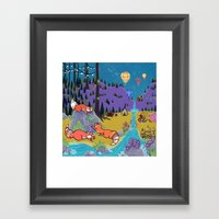 Foxy Forest Framed Art Print
