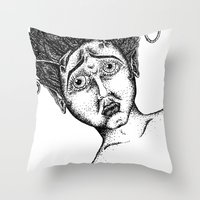 The Bug Lady Throw Pillow