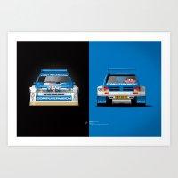 Group B Edition, N.º5, MG Metro 6R4 Art Print