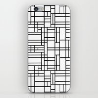 Map Outline Black on White  iPhone & iPod Skin