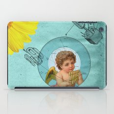 Angel playing music in space iPad Case