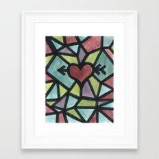 Stained Love Framed Art Print
