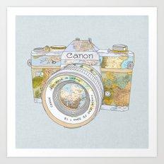 Travel Canon Art Print