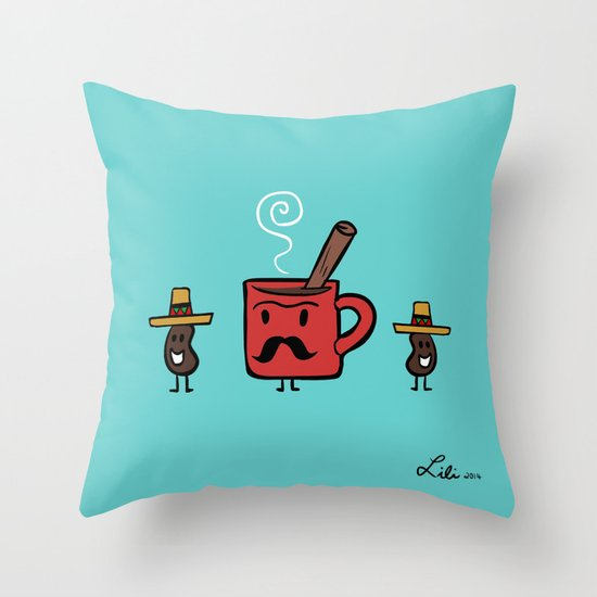 Cafe De Olla Throw Pillow