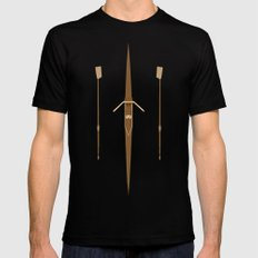 rowing single scull Black Mens Fitted Tee SMALL