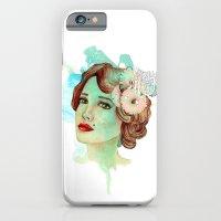 iPhone & iPod Case featuring retro woman 2 by Duygu Kondoglu