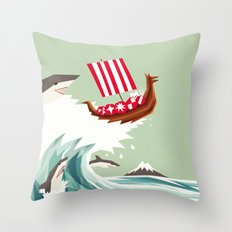 Sharkwave Throw Pillow
